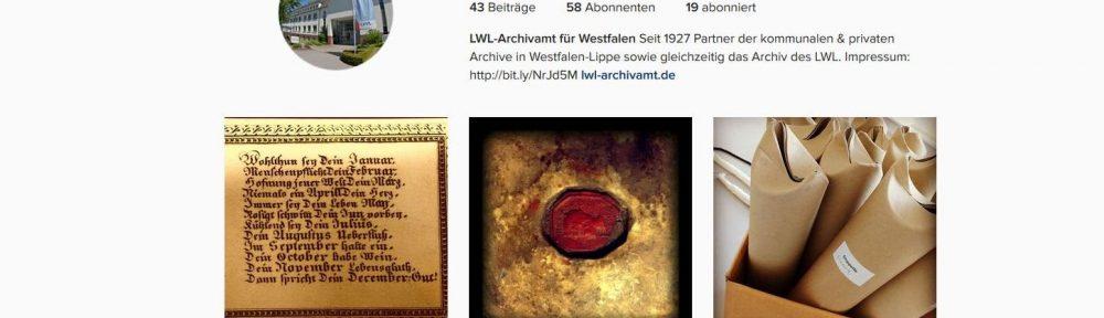 LWL-Archivamt auf Instagram