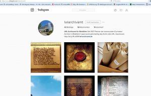Der Instagram-Account des LWL-Archivamts
