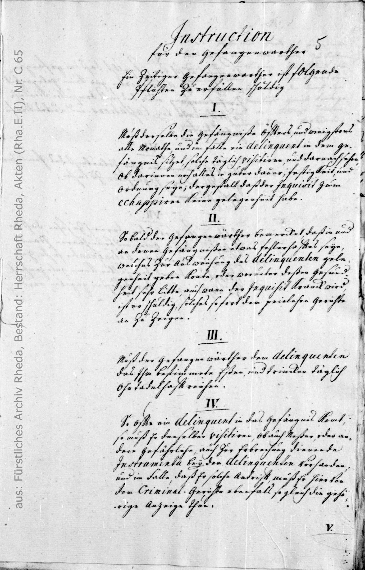 aus: Fürstliches Archiv Rheda, Bestand: Herrschaft Rheda Akten (Rha.E.II), Nr. 65