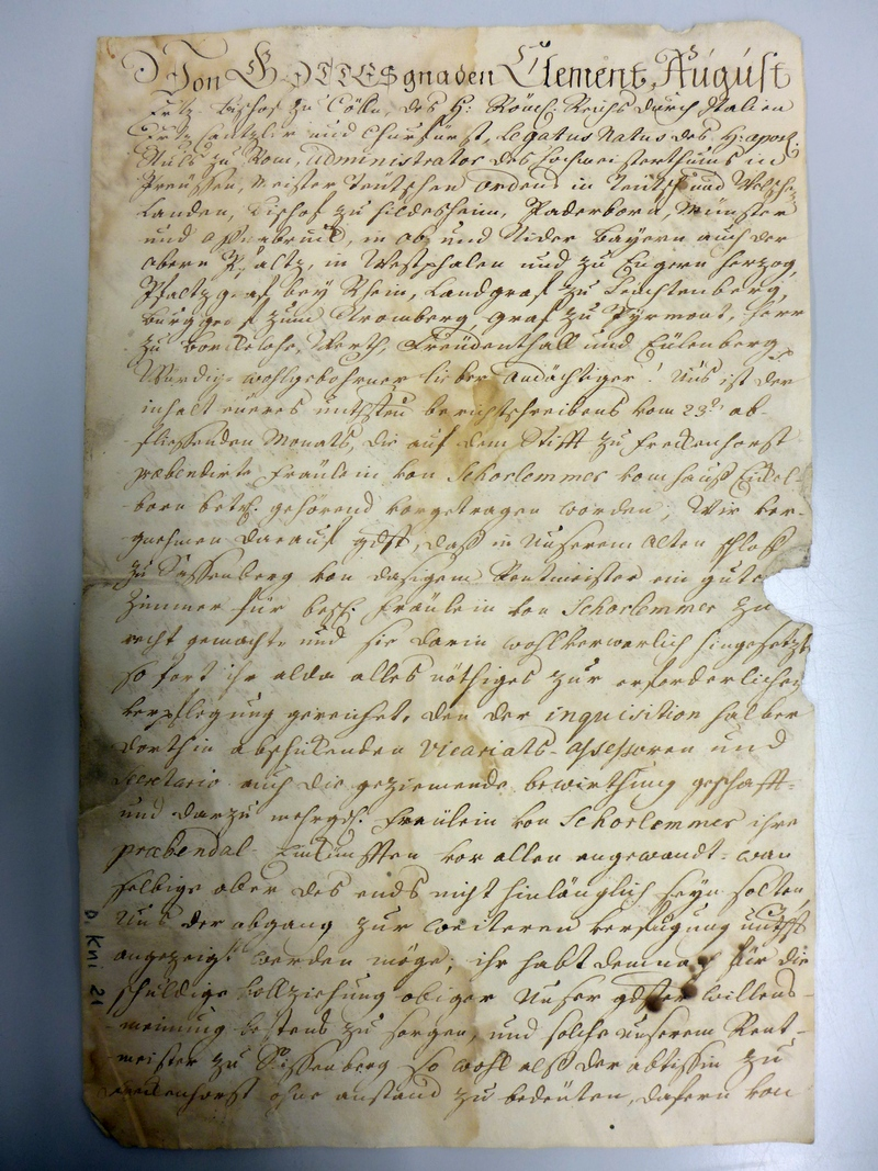 LWL-Archivamt für Westfalen, Sammlung Knipper, Sammlung Nr. 21