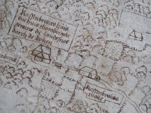 Ausschnitt der Grenzkarte von 1582