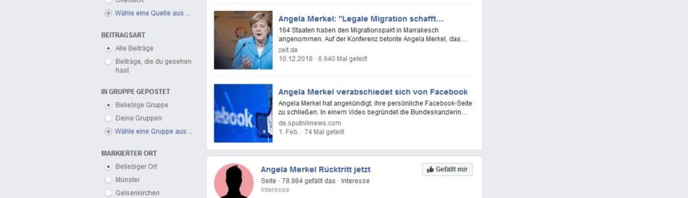 Was passiert mit Merkels Facebook Account?