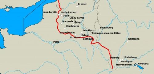 Karte der Stationen Mayers