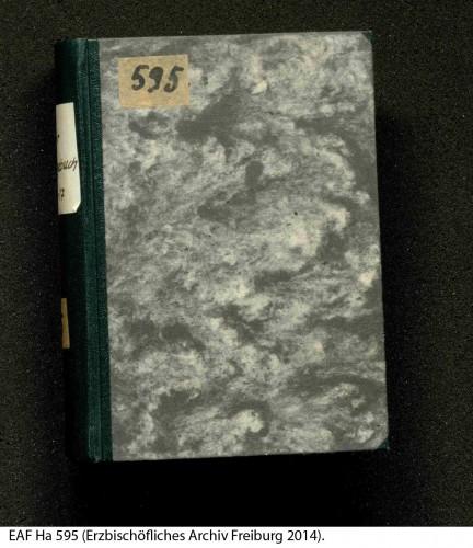 Das gebundene Manuskript des Kriegstagebuches EAF Ha 595.
