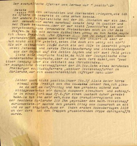 Mayer lästert über seine protestantischen Kollegen (Nachtrag zum Tagebuch)