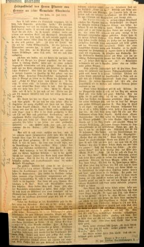 Bericht einer Weihnacht im Feld (Einklebung ins Tagebuch zum 24.12.1914).