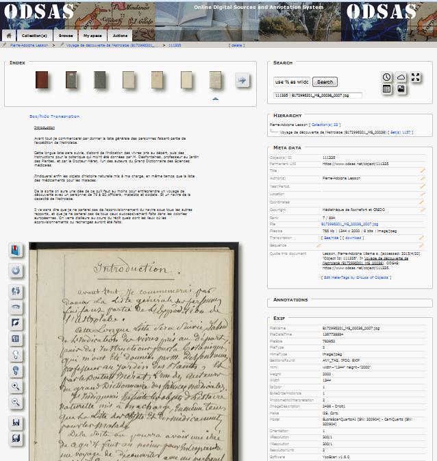 Manuscrit de Pierre-Adolphe Lesson