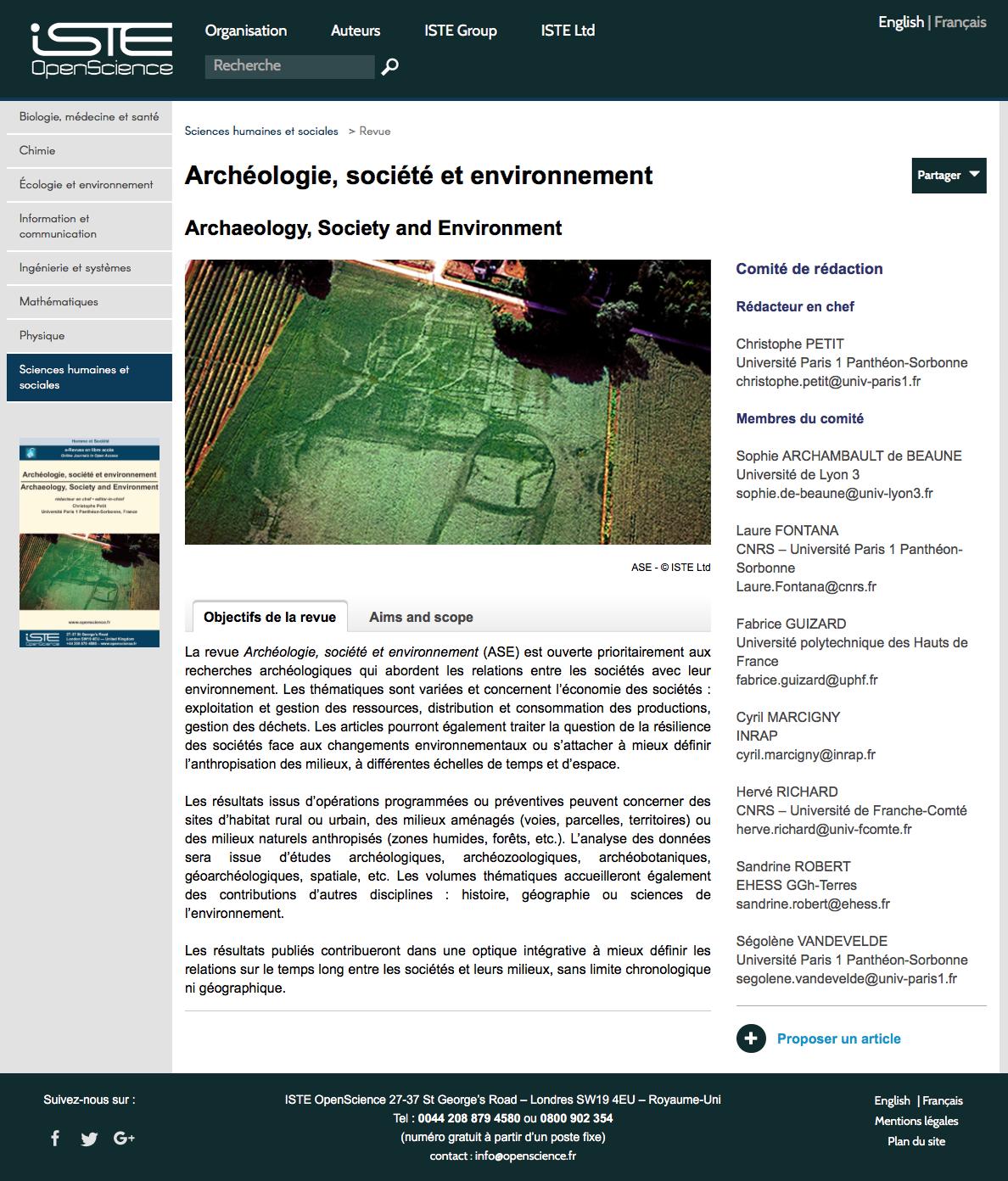 https://www.openscience.fr/Archeologie-societe-et-environnement