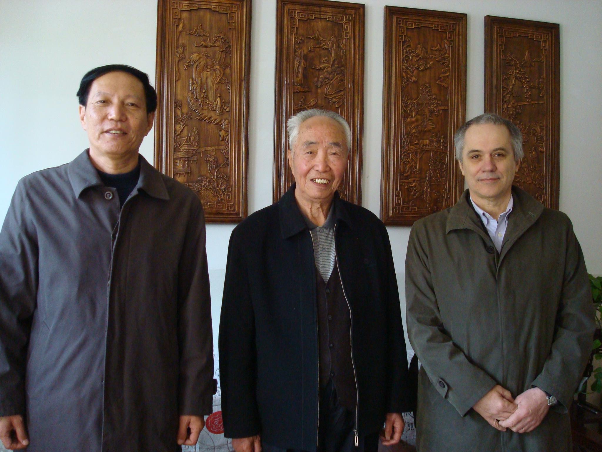 Photo de l'entretien avec prof. Huang Jianhui