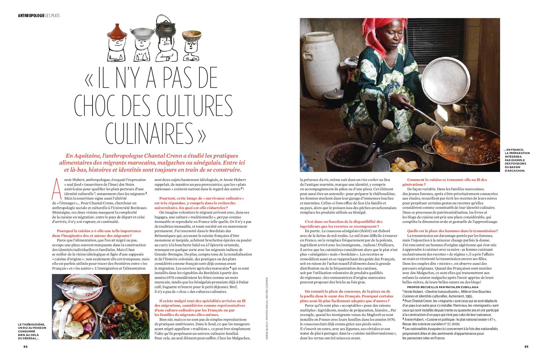 «Il n'y a pas de choc des cultures culinaires» (Chantal Crenn)