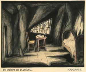"""Abb. 10: """"Das Kabinett des Dr. Caligari"""": """"Mordzimmer"""" von Hermann Warm; IMG_0249 Inv.Nr. 198033_F251_017 Deutsche Kinemathek Berlin"""