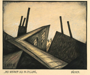 """Abb. 6: Das Kabinett des Dr. Caligari"""": """"Dächer"""" von Hermann Warm; IMG_0107 Inv.Nr. Deutsche Kinemathek Berlin"""