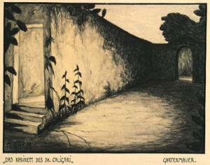 """Abb. 9: """"Das Kabinett des Dr. Caligari"""": """"Gartenmauer"""" von Hermann Warm; IMG_0322 Inv.Nr. 198033_F251_39 Deutsche Kinemathek Berlin"""