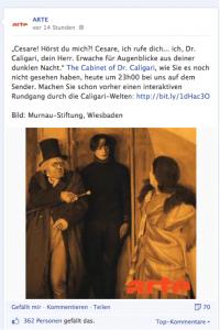 Abb. 2:ARTE Facebook