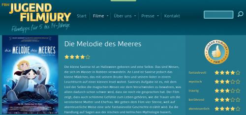Animationsfilm: Die Melodie des Meeres - Filmtipp der FBW Jugendjury