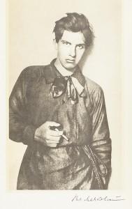 Portrait de Vladimir Maïakovski, extrait de Собрание сочинений в восьми томах/Sobranie sočinenij v vos ʹmi tomah, portrait en frontispice
