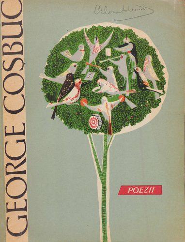 Reproduction de la première de couverture du livre de George Cosbuc, Poezii, publié en 1964