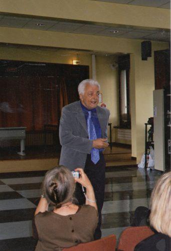 Claude Kastler à l'université Stendhal en 2003 (Photographie de Lioudmila Kastler)