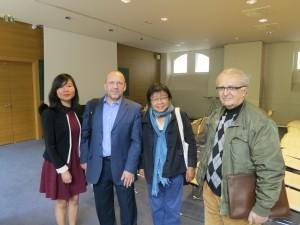 From let to right: Zhang Peiyao, Christian Henriot, Xiaohong Xiao-Planes, Alain Roux