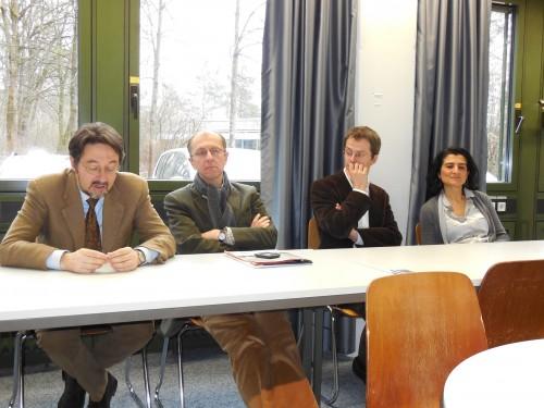 Leopoldo Nuti, Frédéric Bozo, Frédéric Gloriant and Marilena Gala (f.l.t.r.)