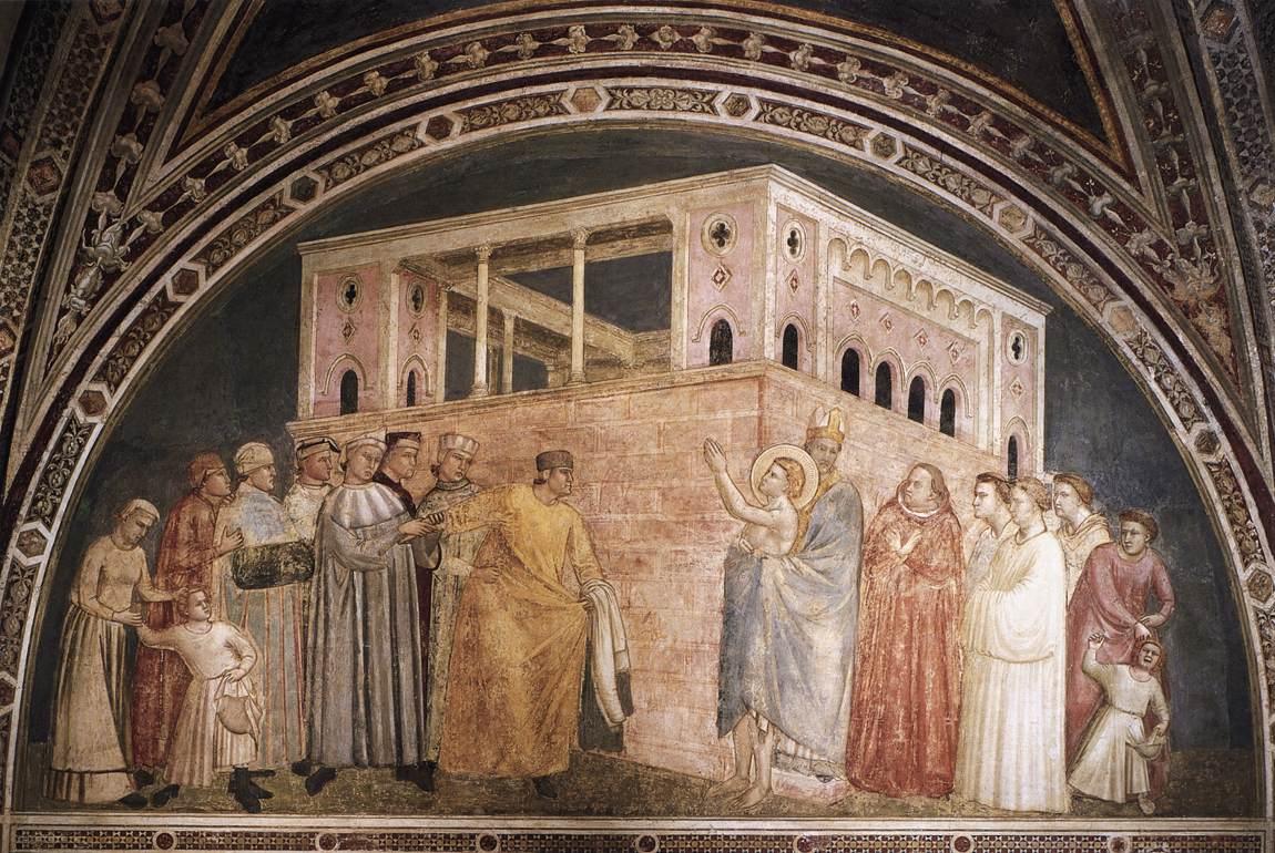 Giotto, Renonciation aux biens de saint François (Florence, Santa Croce)