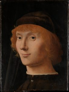 Antonello da Messina, Portrait, huile sur bois, v. 1470 Legs Benjamin Altman, 1913 Metropolitan Museum of Art www.metmuseum.org