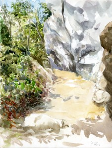 Aquarelle de Liang Jon par Michel Grenet