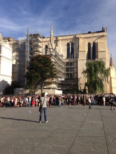 Action des intermittents devant la Mairie de Bordeaux, Place Pey Berland