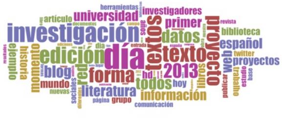 Nuvem de palavras do Dia HD 2013 (Priani et al., 2014)
