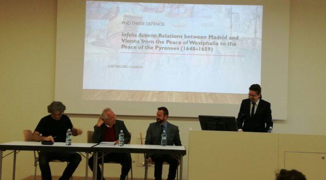 Defensa de tesis doctoral de Luis Tercero Casado