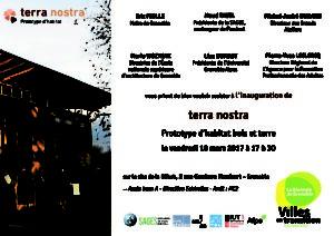 Carton d'invitation Terra Nostra