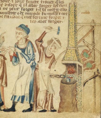 Blacksmith - The Holkhan Bible, 1327-1335
