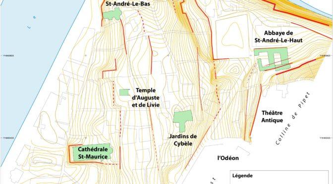 Vienne, topographie des ruptures de pente