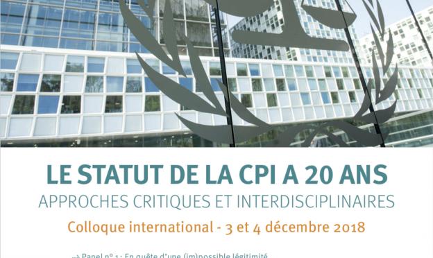 Le statut de la CPI a 20 ans. Colloque international
