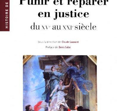 Parution : Punir et réparer en justice