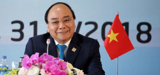 Le Premier ministre du Vietnam Nguyên Xuân Phuc : AFP/Getty Images / MINH HOANG