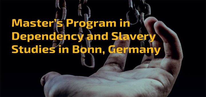 MA-Program Dependency and Slavery Studies (BCDSS)