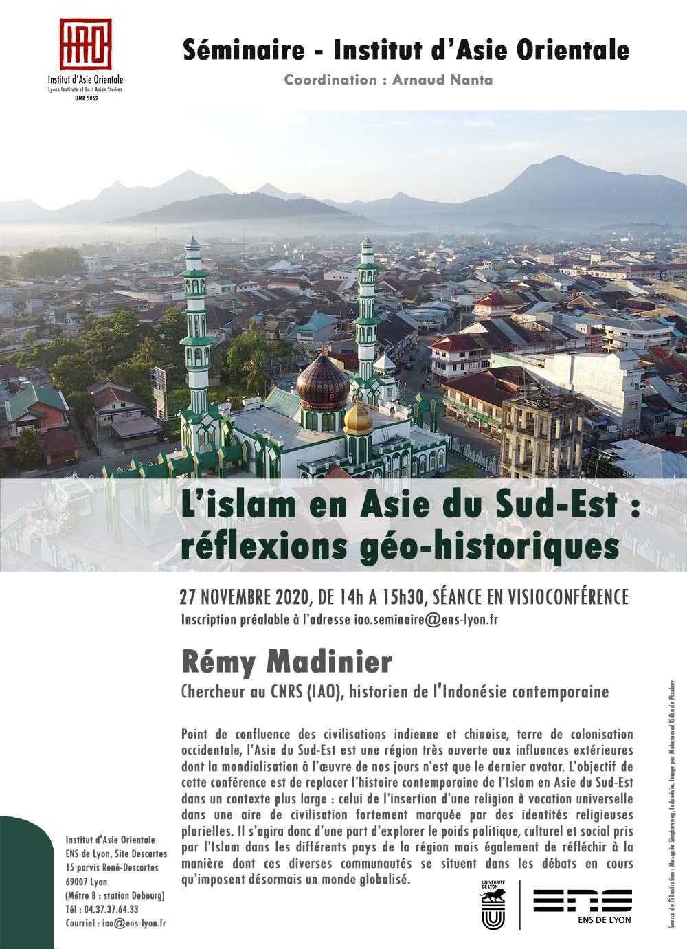Séminaire de Rémy Madinier