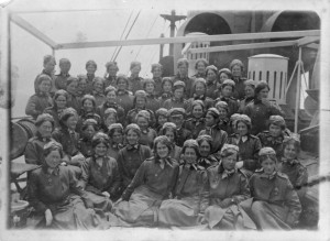 New Zealand nurses on board the Rotorua, during World War I