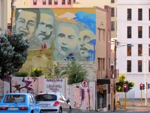 Nelson Mandela, Steve Biko, Cissie Gool & Imam Haron (Cape Town / South Africa)