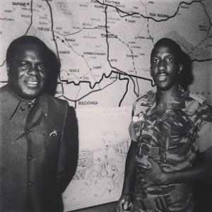My dad & Thomas Sankara, Burkina Faso #sonofagreatman #happy70dad