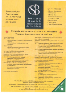 les 150 ans de la Bibliothèque du Saulchoir