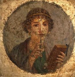 Mujer pompeyana con tablilla en las manos (a. de 79 a. C.)