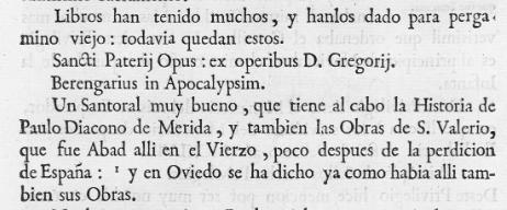 Viage de Ambrisio de Morales, 1765: 170