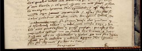 Diario de Colón, BNE, ms. Vitrina 6-7, fol. 67r (detalle).