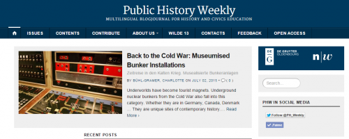 Public History Weekly   Multilingual BlogJournal for History and Civics Education