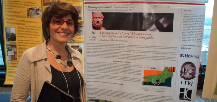 Unconventional History? Anita Lucchesi, Poster Session, IFPH-NCPH, #NCPH2013, Ottawa, Canada