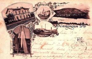 Die Chemische Fabrik Hönningen auf einer zeitgenössischen Postkarte (Mitte)