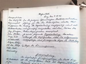 Protokoll der Stadtverordnetensitzung vom 7. Oktober 1945
