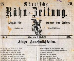 """""""Närrische Rähn-Zeitung"""", 1879"""